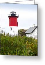 Lighthouse Of Memories Greeting Card by Michelle Wiarda