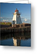 Lighthouse On A Channel By Cascumpec Bay On Prince Edward Island No. 095 Greeting Card