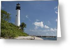 Lighthouse On A Sunny Day Greeting Card
