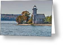 Lighthouse On Grand Island Michigan Greeting Card