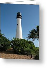 Lighthouse On Key Biscayne Greeting Card