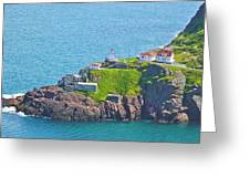 Lighthouse On Point In Signal Hill National Historic Site In Saint John's-nl Greeting Card