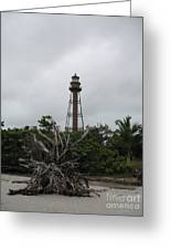 Lighthouse On Sanibel Island Greeting Card