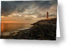 Lighthouse On The Coast, Ardnamurchan Greeting Card