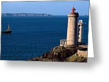 Lighthouse On The Coast, Phare Du Petit Greeting Card