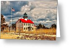 Lighthouse On The Delaware Greeting Card