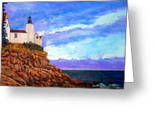 Lighthouse Overlook Greeting Card