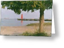 Lighthouse Pastel Greeting Card