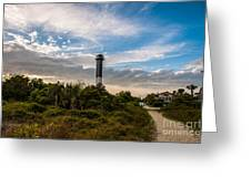 Lighthouse Pathway Greeting Card