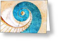 Lighthouse Staircase Greeting Card
