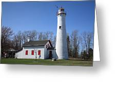 Lighthouse - Sturgeon Point Michigan Greeting Card