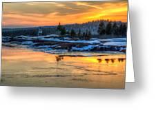 Lighthouse Sunset Greeting Card