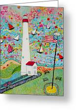 Cape May Point Lighthouse Magic Greeting Card