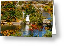 Lighthouse Through The Leaves Greeting Card