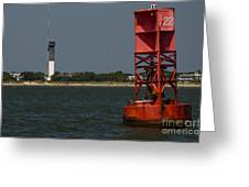 Lighthouse To Buoy Greeting Card