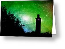Lighthouse Under The Stars Xii Greeting Card