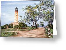 Lighthouse Greeting Card by Victor Collector