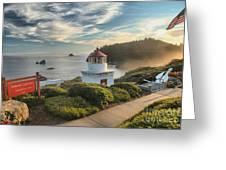 Lighthouse Walk Greeting Card by Adam Jewell