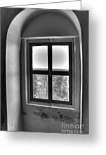 Lighthouse Window At Point Iroquois Greeting Card