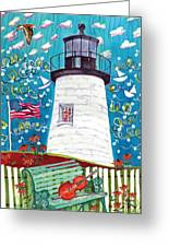 Lighthouse With Music Greeting Card