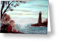 Lighthousekeepers Home Greeting Card