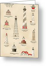 Lighthouses Of The East Coast Greeting Card