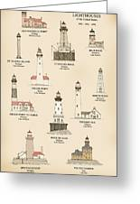 Lighthouses Of The Great Lakes Greeting Card