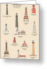 Lighthouses Of The Gulf Coast Greeting Card