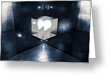Lighting In Cube Greeting Card