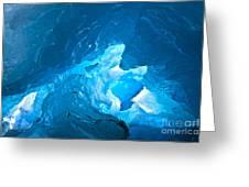 Lighting In Nigardsbreen Glacier Grotto 3 Greeting Card