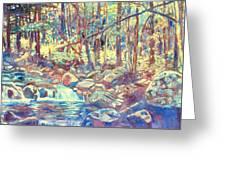 Lighting The Creek Greeting Card