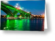 Lighting Up The Waters Of The Niagara River Greeting Card