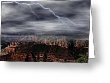Lightning - North Rim Of Grand Canyon Greeting Card