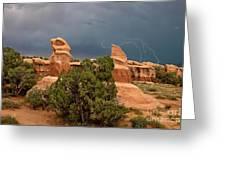 Lightning Devils Garden Escalante Grand Staircase Nm Utah Greeting Card