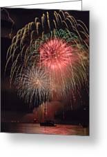Lightning Fireworks Greeting Card