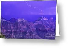 Lightning Storm North Rim Grand Canyon National Park Arizona Greeting Card
