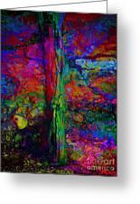 Lightning Strucked Tree Greeting Card