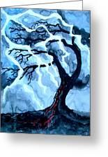 Lightning Tree Greeting Card