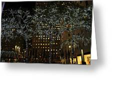 Lights In Rockefeller Center Greeting Card