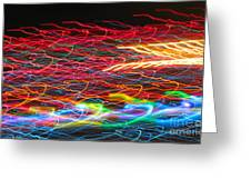 Lights In The Fast Lane Greeting Card