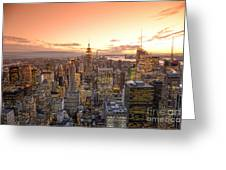 Lights In The Sunset Greeting Card