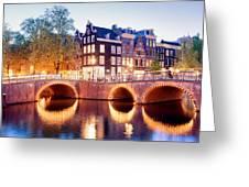 Lights Of Amsterdam Greeting Card
