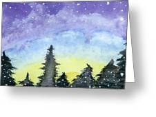 Lights Of Life Greeting Card