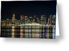 Lights Of Vancouver Greeting Card