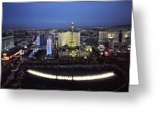 Lights Of Vegas Greeting Card