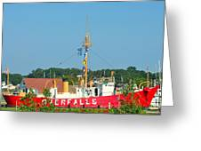 Lightship Overfalls Greeting Card