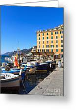 Liguria - Harbor In Camogli Greeting Card