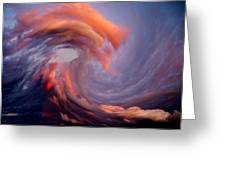 Like A Wave In The Sky Greeting Card