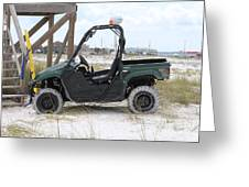 Lil Beach Jeep Greeting Card