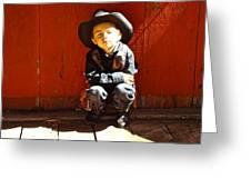 Lil Cowboy Afternoon Greeting Card